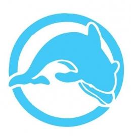 Wandsticker - Dolfijn