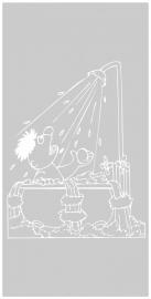maatwerk raamfolie - Ernie in bad