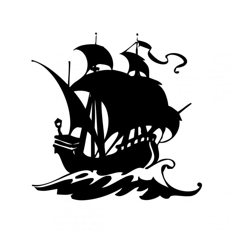Wandsticker - Piratenschip 1