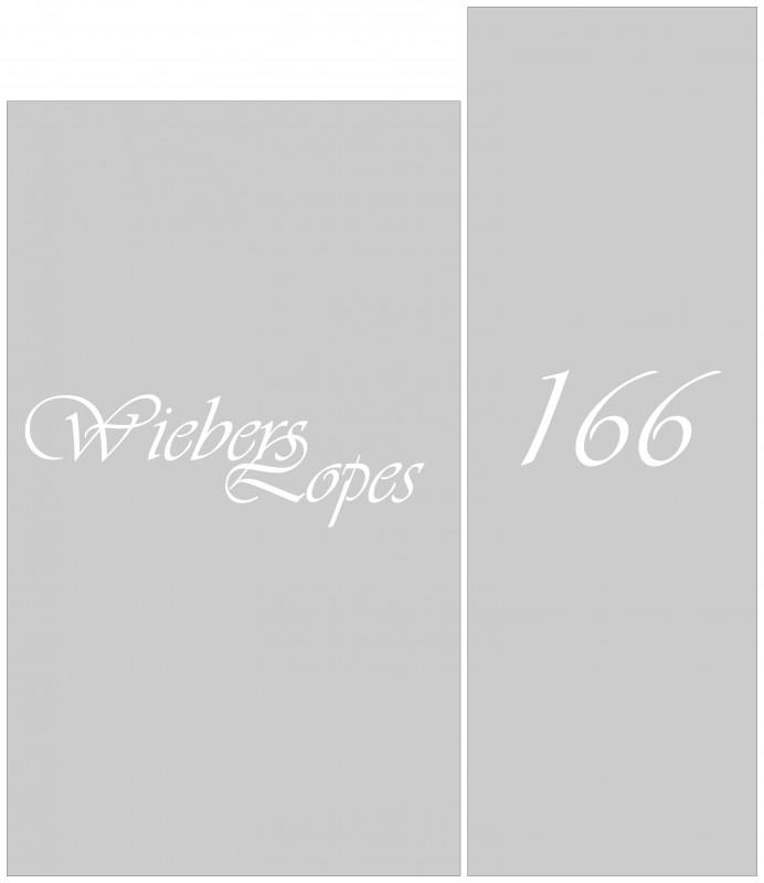 maatwerk raamfolie - Wiebers - Lopes - in totaal 4 stuks