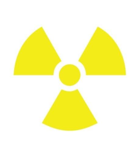 Radioactief sticker