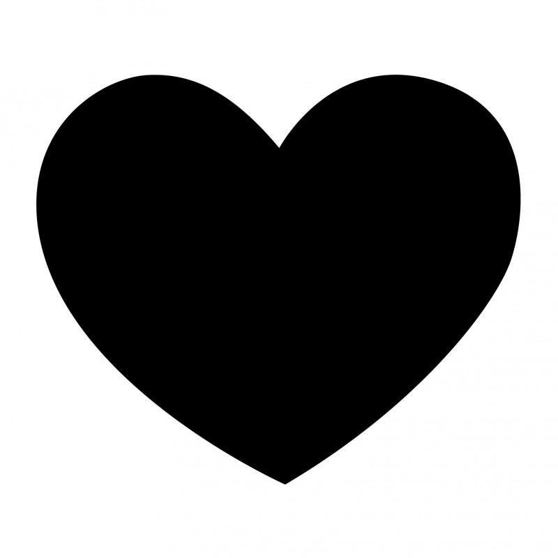 schoolbordsticker / krijtbordsticker hart klein