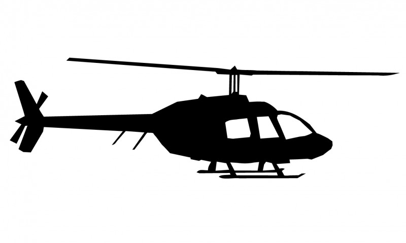 Wandsticker  - helicopter 2