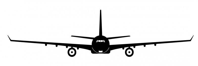 Wandsticker  - vliegtuig 3