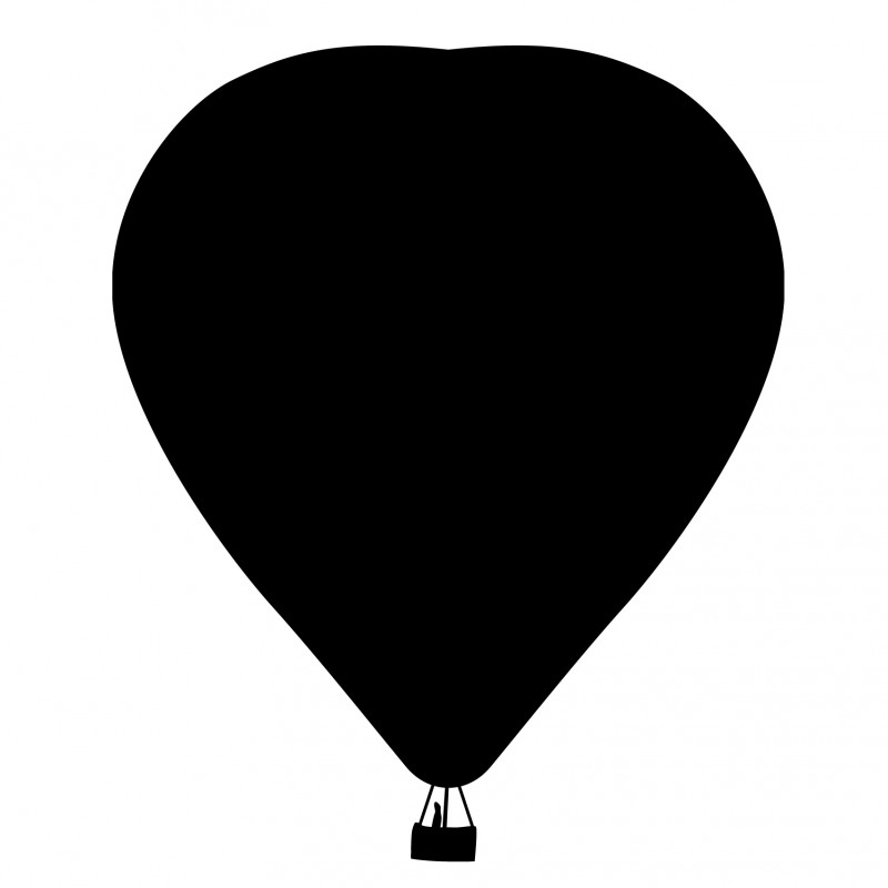 schoolbordsticker luchtballon