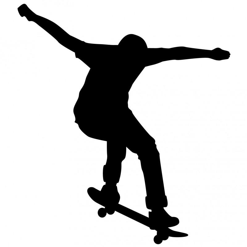 Wandsticker - Skate boarder 3