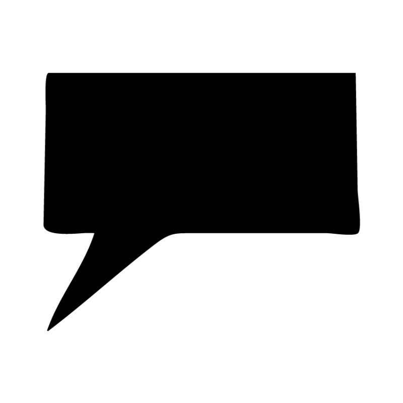 Schoolbordsticker / krijtbordsticker - tekst ballon 3 klein - gespiegeld