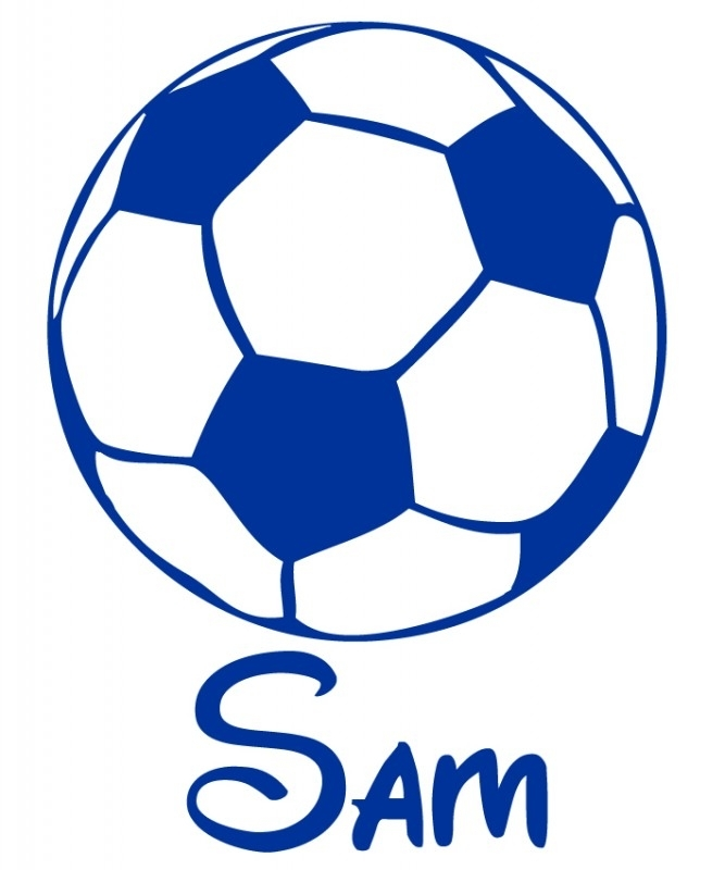 Deursticker Voetbal - Sam
