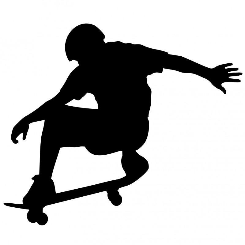 Wandsticker - Skate boarder 2