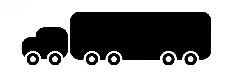 schoolbordsticker / klrijtbordsticker vrachtauto