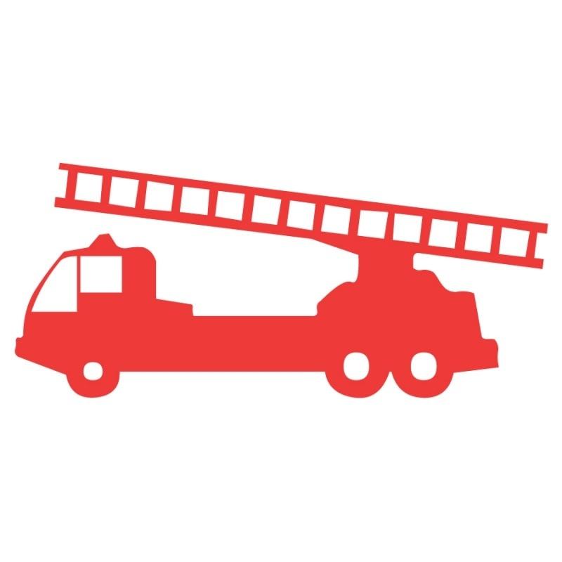 Wandsticker - Brandweerauto