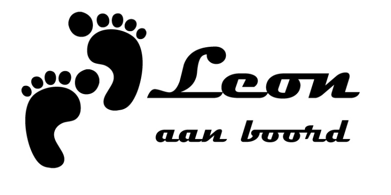 aan boord autosticker - Leon