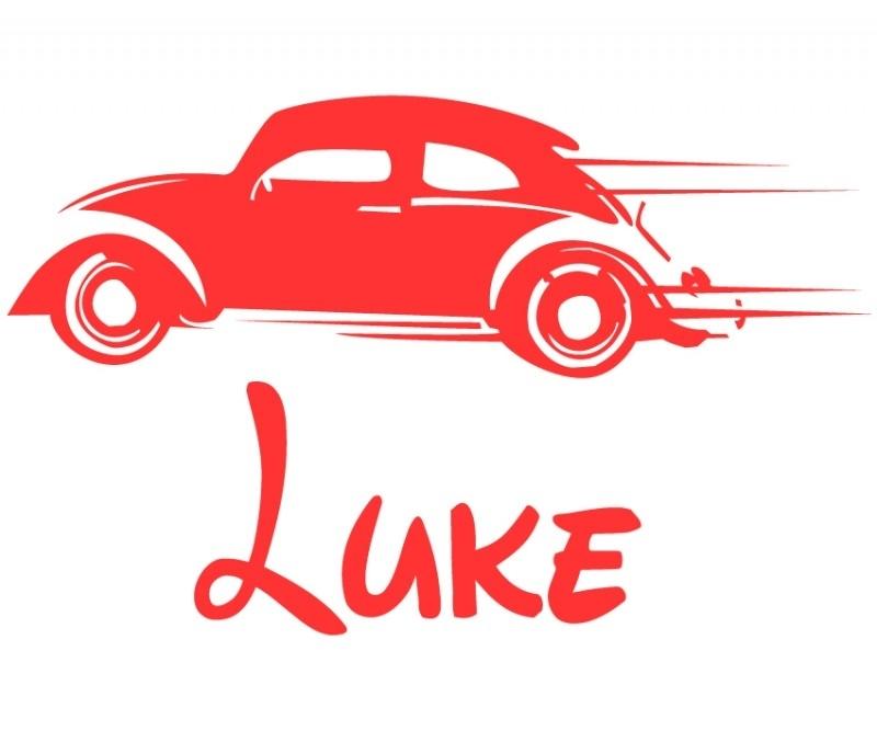 Deursticker  Race auto - Luke
