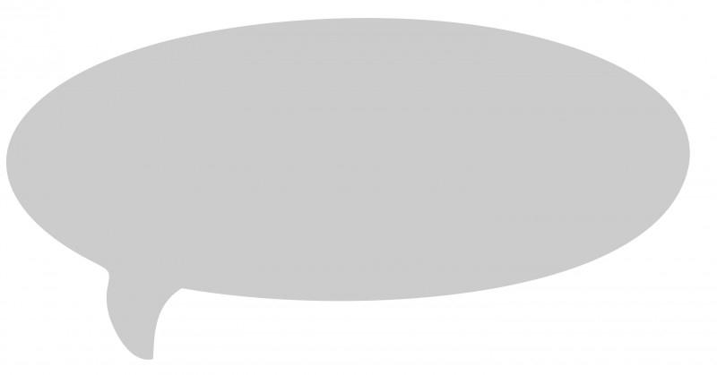 Whiteboardsticker - tekst ballon 1 groot formaat