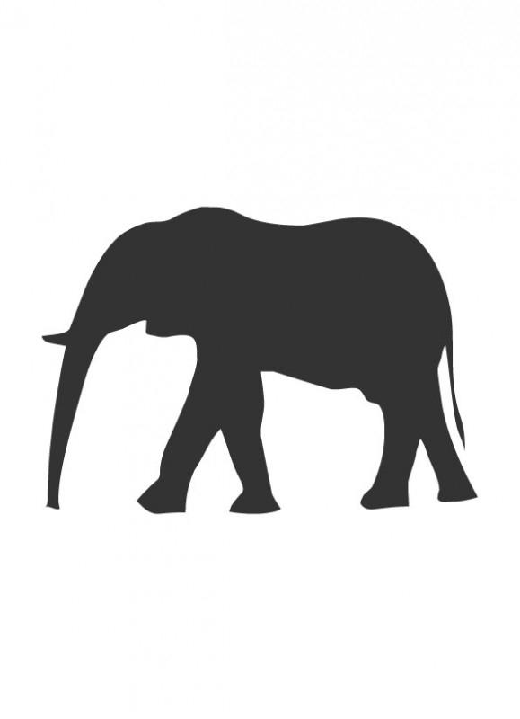 schoolbordsticker / krijtbordsticker olifant