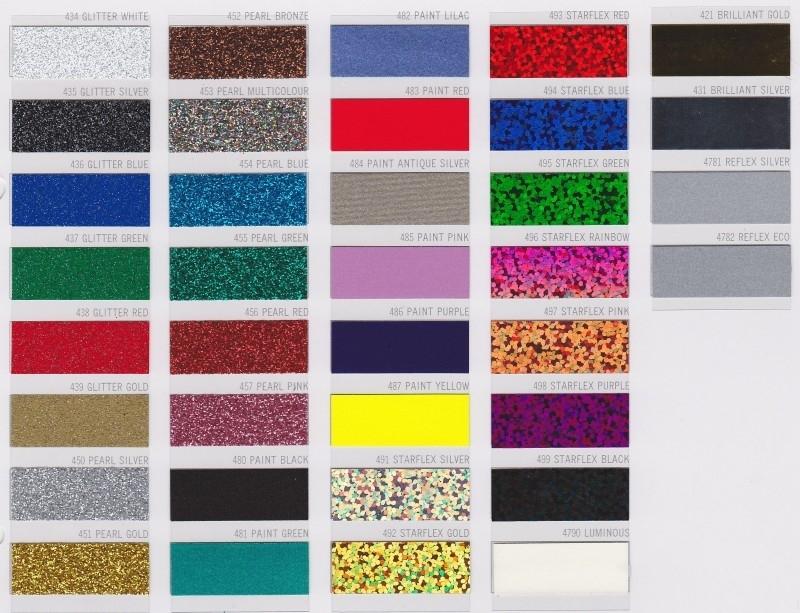 Kleurenkaart Strijkletters & figuren - image