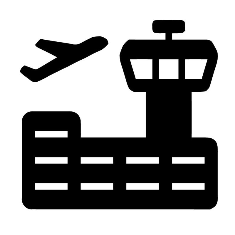 krijtbord sticker - vliegveld - verkeerstoren 2