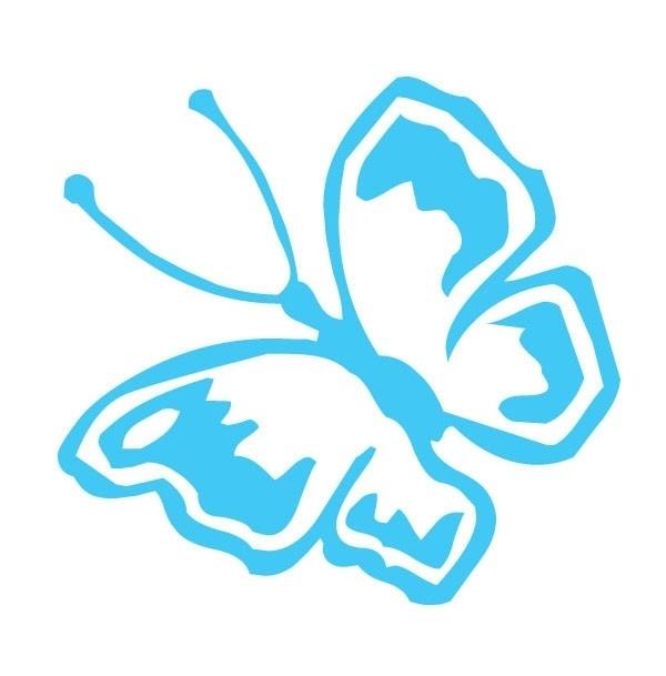 Vlinder sticker 1