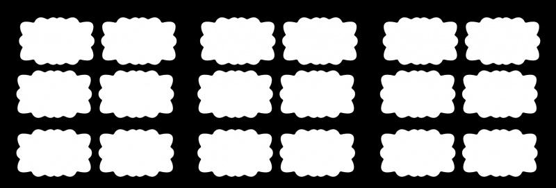 etiketten - whiteboardfolie sierlijk 2