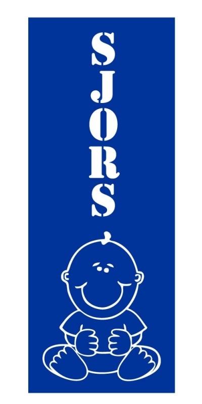 Geboortesticker - Sjors banner