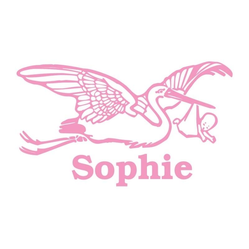 Geboortesticker - Sophie ooievaar