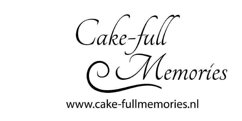 """autosticker tekst """"cake-full memories"""""""
