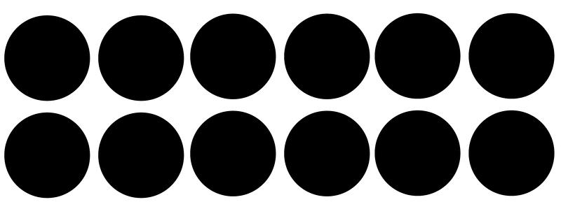 40 cirkels 3,5cm krijtbordfolie