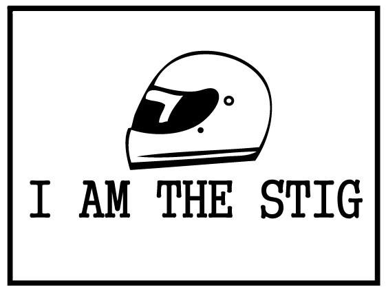 Autosticker - I`m the STIG met helm
