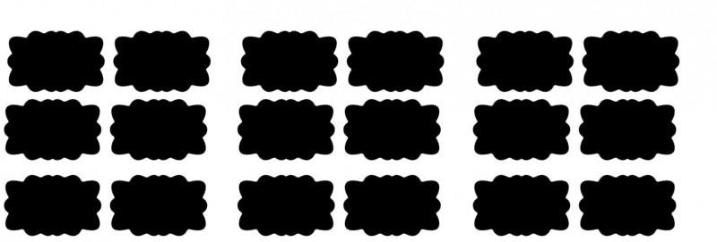 etiketten - krijtbordfolie sierlijk 2