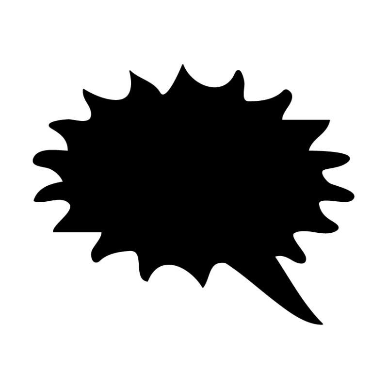 Schoolbordsticker / krijtbordsticker - tekst ballon 4 klein