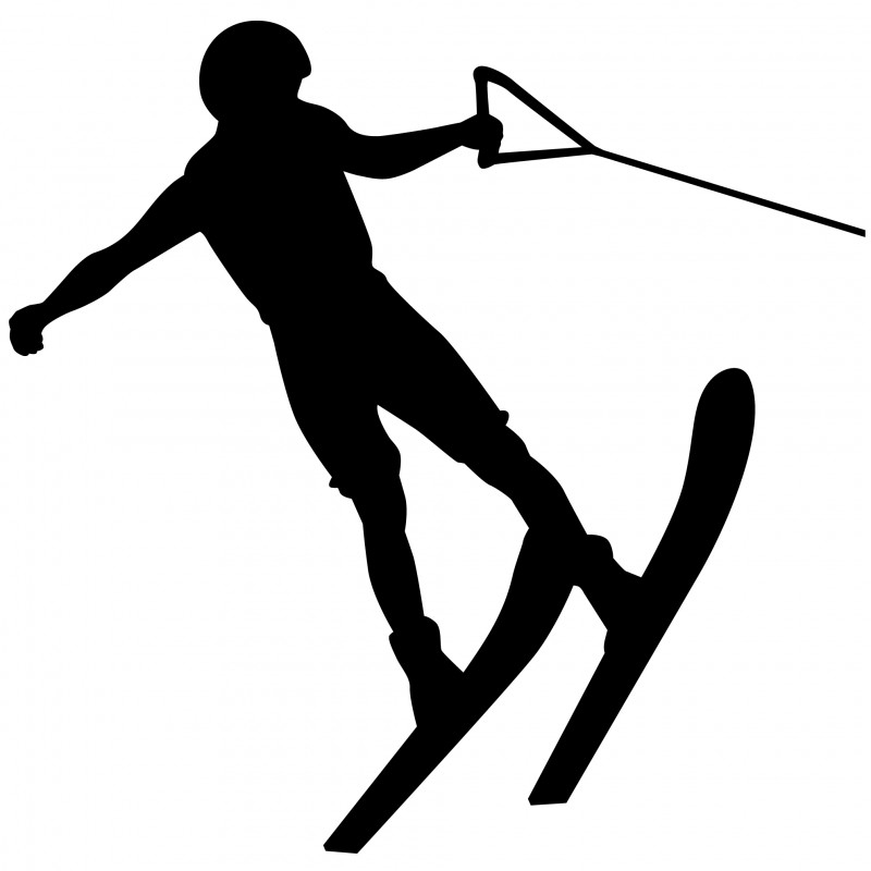 Wandsticker - Water ski