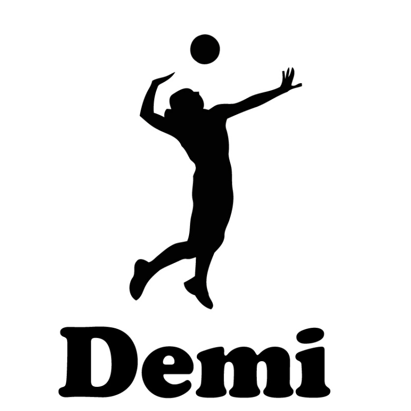 strijk applicatie - volleybalster met naam