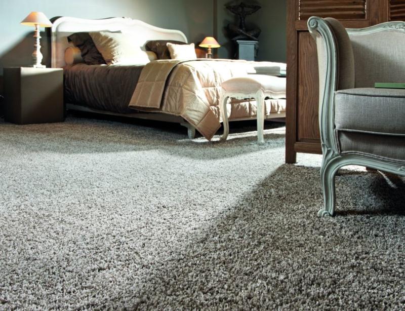 Shaggy hoogpolig tapijt navy