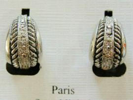 Zilverkleurige clips oorbellen