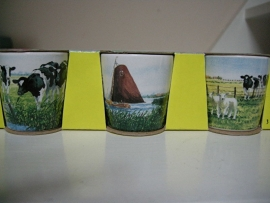 Eierendoppen koeien/lammetjes van Wiebe v d Zee
