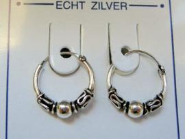 Zilveren oorringen 14 mm doorsnee heel mooi!