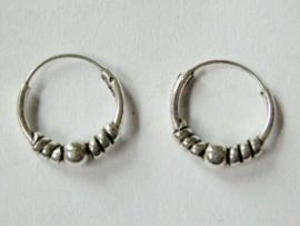 Zilveren oorringetjes 12 mm doorsnee