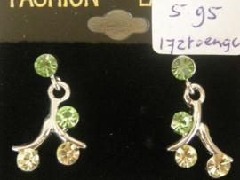 Mode oorbellen swarovski groen
