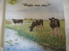 koeien servetten van Wiebe v d Zee
