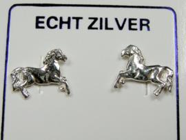 Paarden oorknopjes Zilver