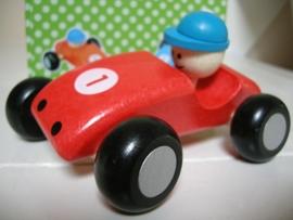 Formule 1 swing auto hout kleur rood