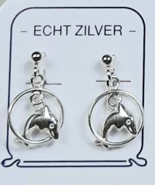 Dolfijnen oorbellen zilver