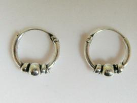 Nieuwe fijne oorringetjes 10 mm doorsnee zilver