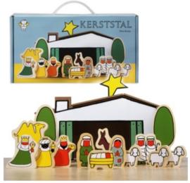 Dick Bruna houten kerststal +groep