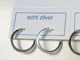 Zilveren creolen 13 mm doorsnee