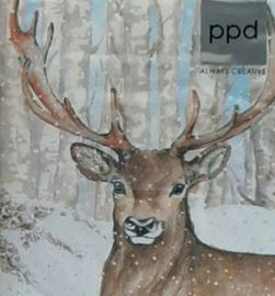 Winter servetten rendier 25 x 25 cm