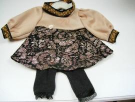 Baby Born jurkje + legging en haarband