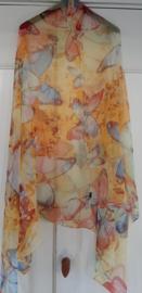 Vlinder zomer sjaal in zijde en viscose nieuw!