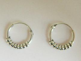 Zilveren oorringetjes 10 mm doorsnee