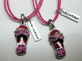 Best  Friends set slipper schoentjes roze met strass